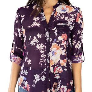 NWT KUT from the Kloth Jasmine Top Front Button